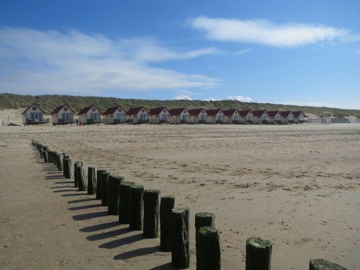 Domburg,   with the beachhouses