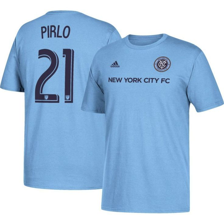 adidas Men's New York City FC Andrea Pirlo #21 Player Blue T-Shirt, Size: XL