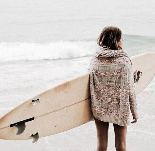 Surfer waiting