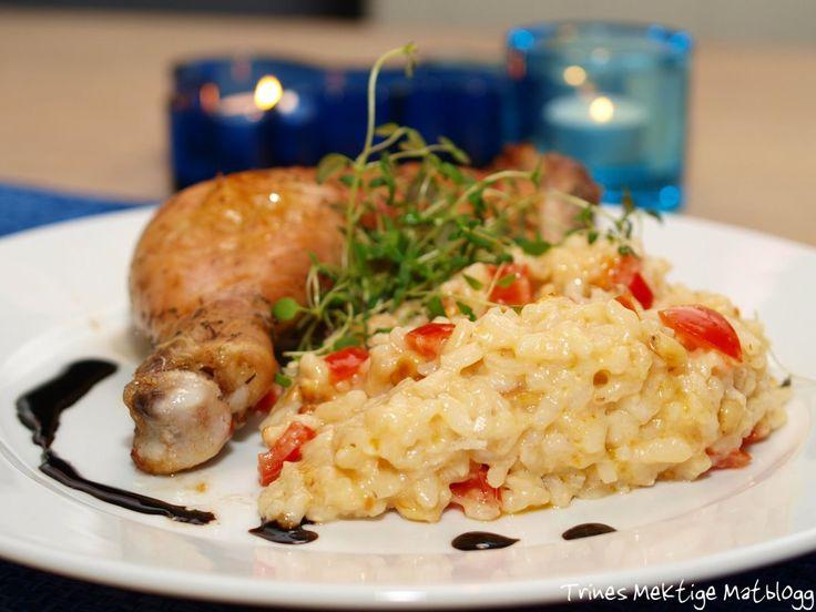 Kyllinglår fra Stange med tomatrisotto