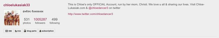 Chloe hit 1,000,000 on instagram!