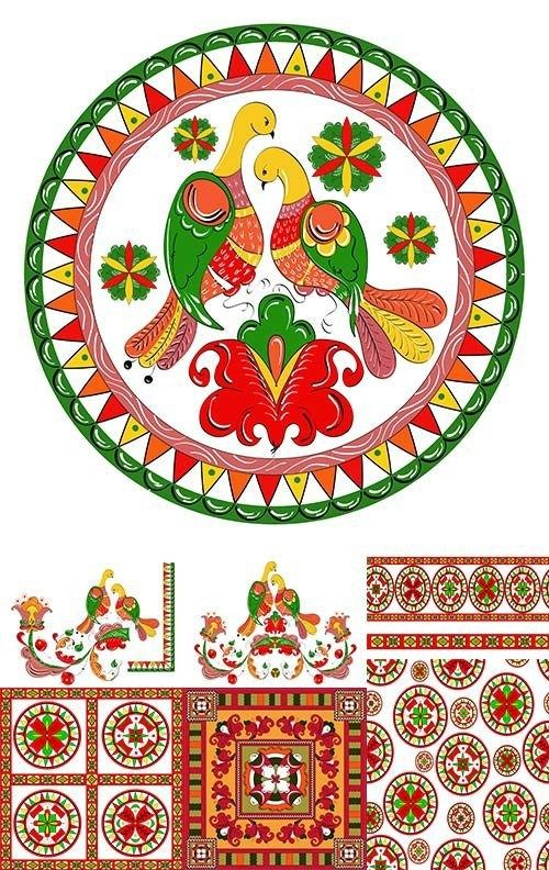 Folk painting from Northern Russia. #art #patterns