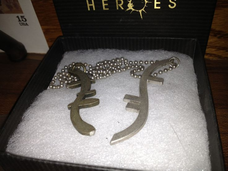 #NBCHEROES 1 of 7 original helix chains worn by Peter Petrelli (Milo Ventimiglia).
