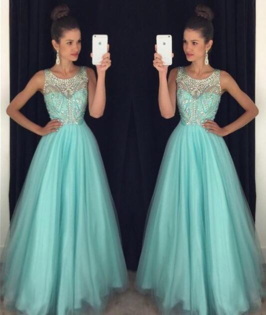 Vestido de fiesta, vestido de fiesta de luz azul, vestido de fiesta de cristal, largo vestido de fiesta, vestido de partido, una línea-vestido de fiesta, vestido de fiesta halter, espalda abierta vestido de fiesta