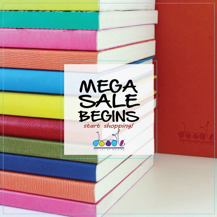 The ‪#‎MegaSale‬ begins now. Start ‪#‎Shopping‬. http://bit.ly/1FYEssV ‪#‎Discount‬ ‪#‎Sale‬ ‪#‎Diary‬ ‪#‎Notebook‬ ‪#‎Journals‬
