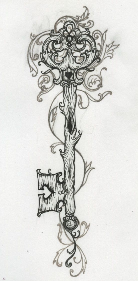 filigree key, this would be a badass tattoo