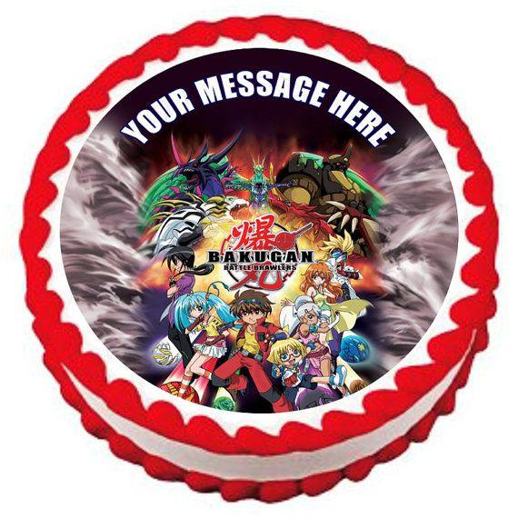 BAKUGAN Battle Brawlers Edible image Cake by SweetiesCakeToppers