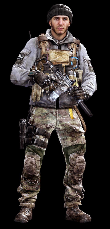 Call of Duty Ghosts © Activision / Infinity Ward ------- Jake Rowell = Art Lead  & Marketing Image / Chris Barnes = Character Art / Steven Giesler & Jake Rowell = Head Art / Sean Byers = Weapon Art