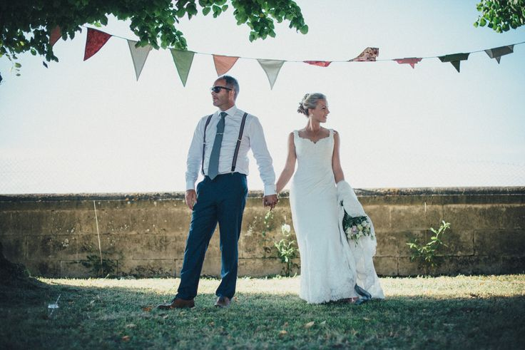 French wedding at Le Logis du Paradis in the Charente. Cute bunting. www.frenchify.co.uk www.susielawrence.com