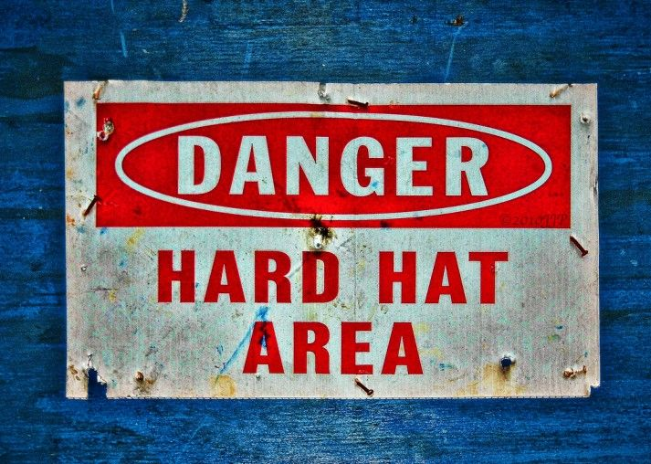 """The """"Put on Your Hard Hat"""" Challenge. Motivating yourself to take healthy steps every day, even when you don't want to. Put on your hard hat, and get to work."""