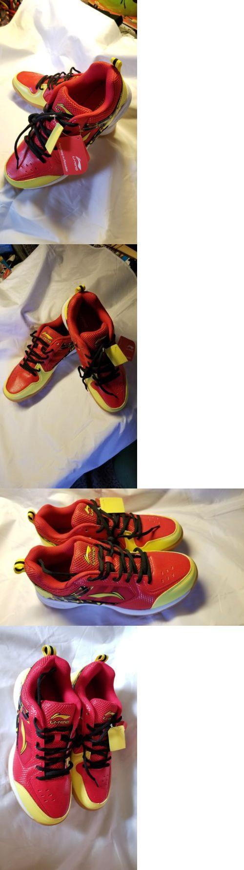 Badminton 106460: Li-Ning Aytk115-3 Icon Ii Badminton Shoes Red,Yellow, Black. Men Size, 8.5 -> BUY IT NOW ONLY: $68 on eBay!