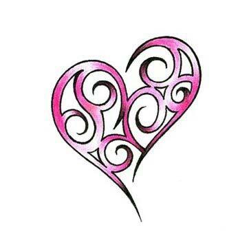 Tribal spiral heart | Tattoo Flash | Pinterest