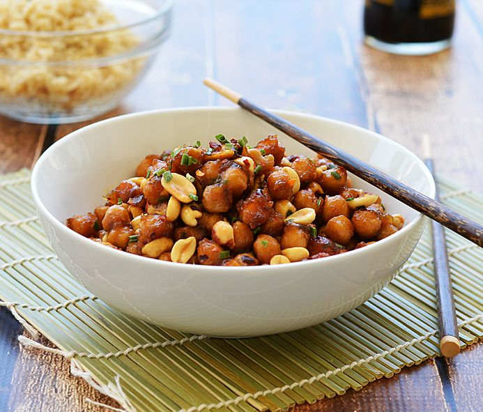 I AM NOT VEGAN!  But I have it on good authority from a friend who also is not vegan that this recipe/dish, KUNG PAO CHICKPEAS, is deeelish!  I love Kung Pao, I love garbanzo beans so I am trying this for sure - a healthy, low cal alternative to Kung Pao from the local chinese restaurant.  ALSO, I will be returning to this site to find other vegan dishes that catch my eye and appeal to my taste buds.
