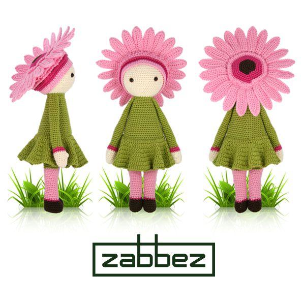 Gerbera Gemma flower doll - amigurumi - crochet pattern by Zabbez