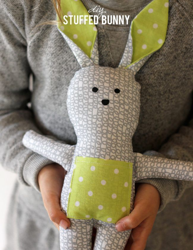 27+ Adorable Free Sewing Patterns for Stuffies, Plushies, Stuffed Animals and Other Felt and Fabric Toys- Bunny Stuffed Animal Pattern from Alice and Lois