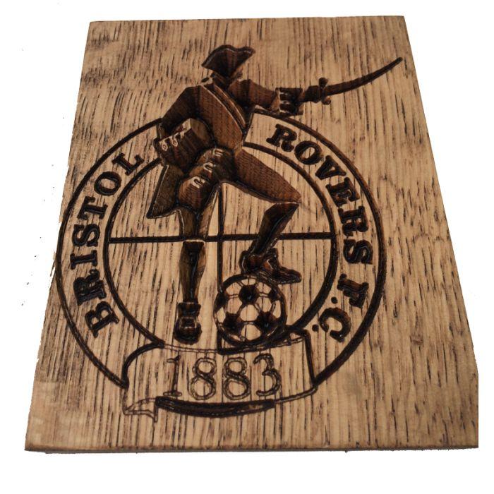Bristol Rovers Football Club Logo Engraved In Oak