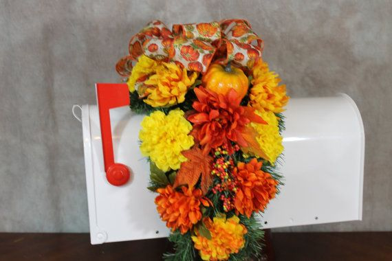 Fall Mailbox Cover  Fall Mailbox Swag  by SouthernCharmFlorals