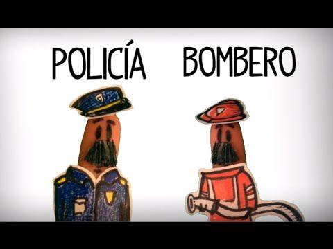 Vídeo para aprender la pronunciación de las profesiones en español. Aprender el vocabulario de los trabajos en español