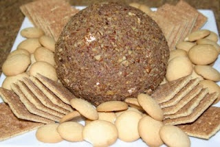 Paula Deen Chocolate Chip Cheese ball. OMG heavenly