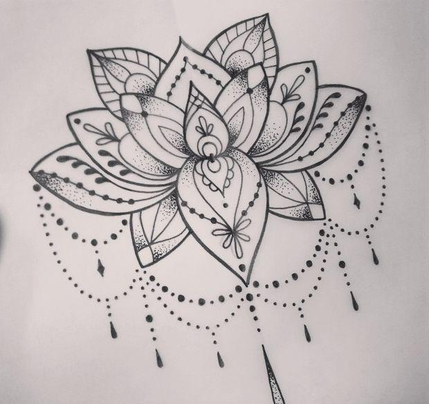 Lotus tattoo (+dot work)