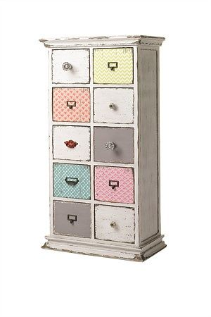 Fall in love with this General Eclectic chest of drawers.  Each drawer & handle is individually designed to give that edge you've always dreamed of for your furniture!