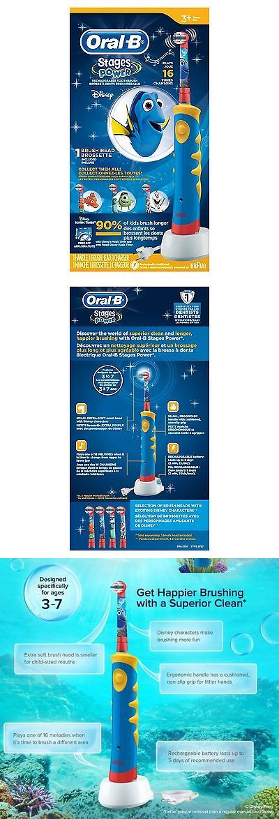 Childrens Oral Care: Oral B Pro-Health Stages Oral-B Power Brush - Finding Dory Toothbrush For Kids BUY IT NOW ONLY: $49.9