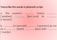 Welcome to my English blog! : Pronunciation – Exercise + Key