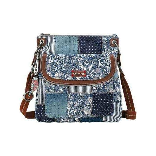 Women's Sakroots Artist Circle Flap Crossbody - Navy Spirit Desert... ($59) ❤ liked on Polyvore featuring bags, handbags, shoulder bags, crossbody shoulder bags, blue handbags, blue purse, navy shoulder bag and navy blue purses