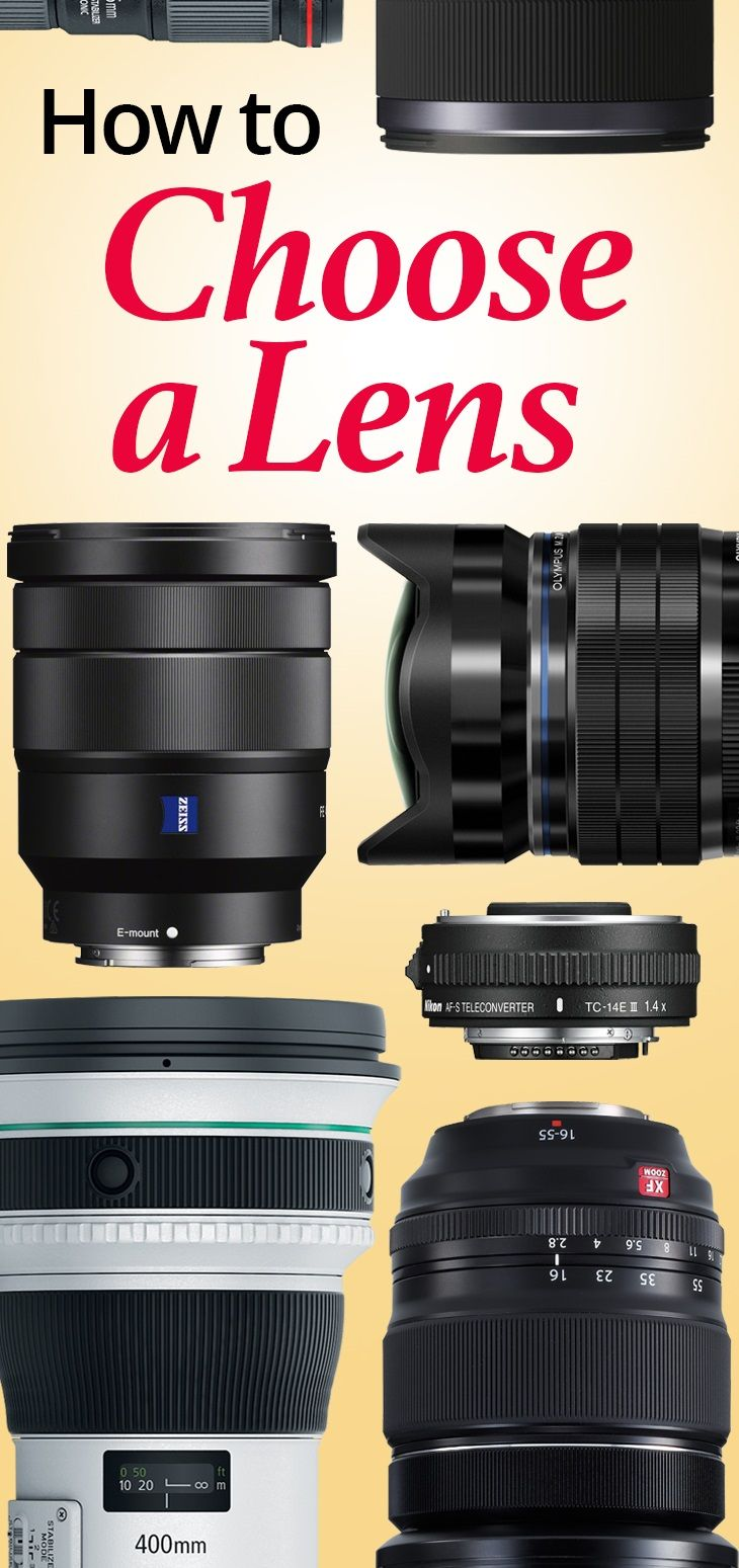 "Choosing a lens can be a daunting task. Here is some advice from real shutterbugs. You can learn to decode ""lens speak."", the popular types of lenses, and the types of photography where they excel."