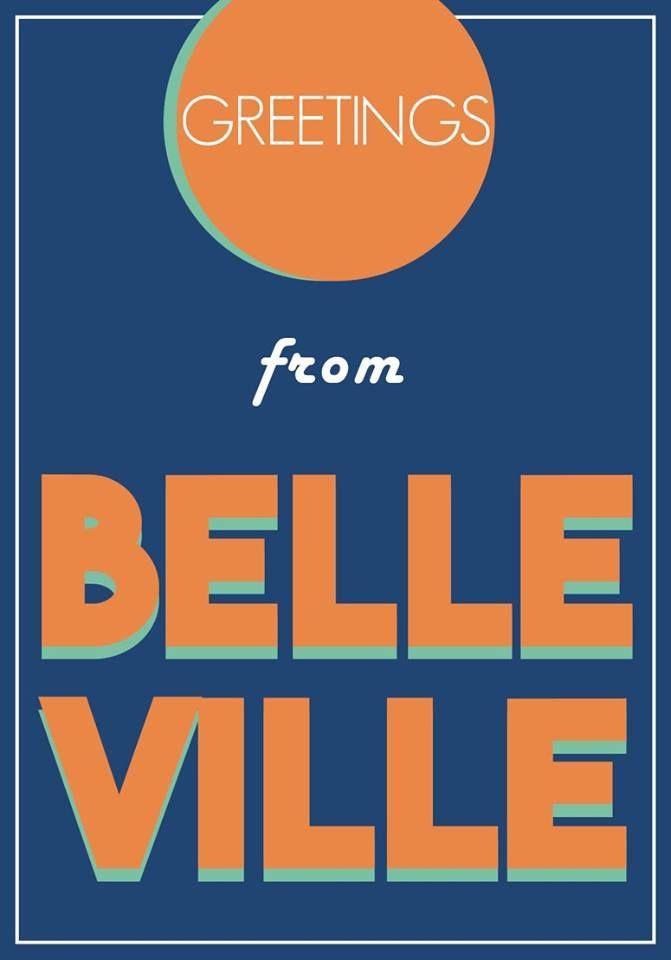 carte postale quartiers Paris postal card Belleville