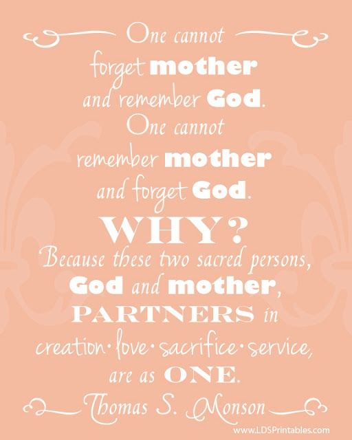 Free Mother 39 S Day Printables Great Lds Quotes Church