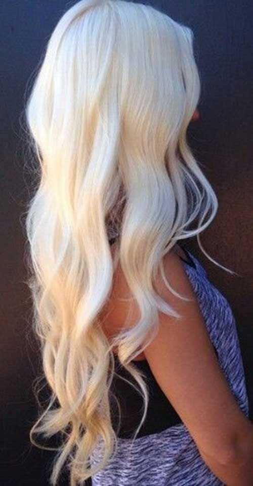 long platinum blonde hair | 20 Hairstyles for Long Blonde Hair | Hairstyles & Haircuts 2014 - 2015