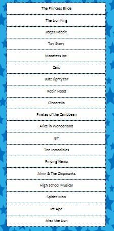 Movie Charades free printable game - fun for a family movie night #FamilyFun #KidsActivities #Charades