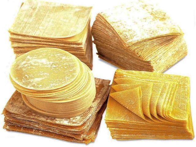 Листовое тесто для вонтонов (wonton skin)