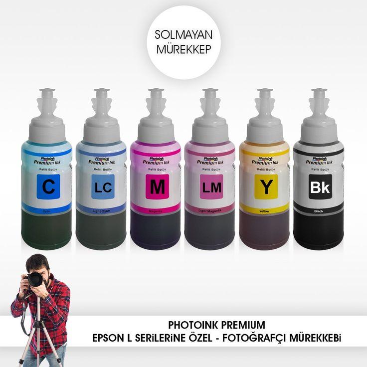 Epson uyumlu 6 lı set Solmayan Mürekkep – L800/L805/L810/L850/L1300/L1800/ l382/l386/l455/1455