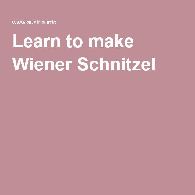 Learn to make Wiener Schnitzel