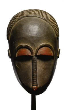 Baule Mask, Ivory Coast.  See too the following site for additional African mask images and information: http://www.zyama.com/index.htm