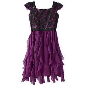 Disney D-Signed Lace & Ruffle Skater Dress - Girls 7-16