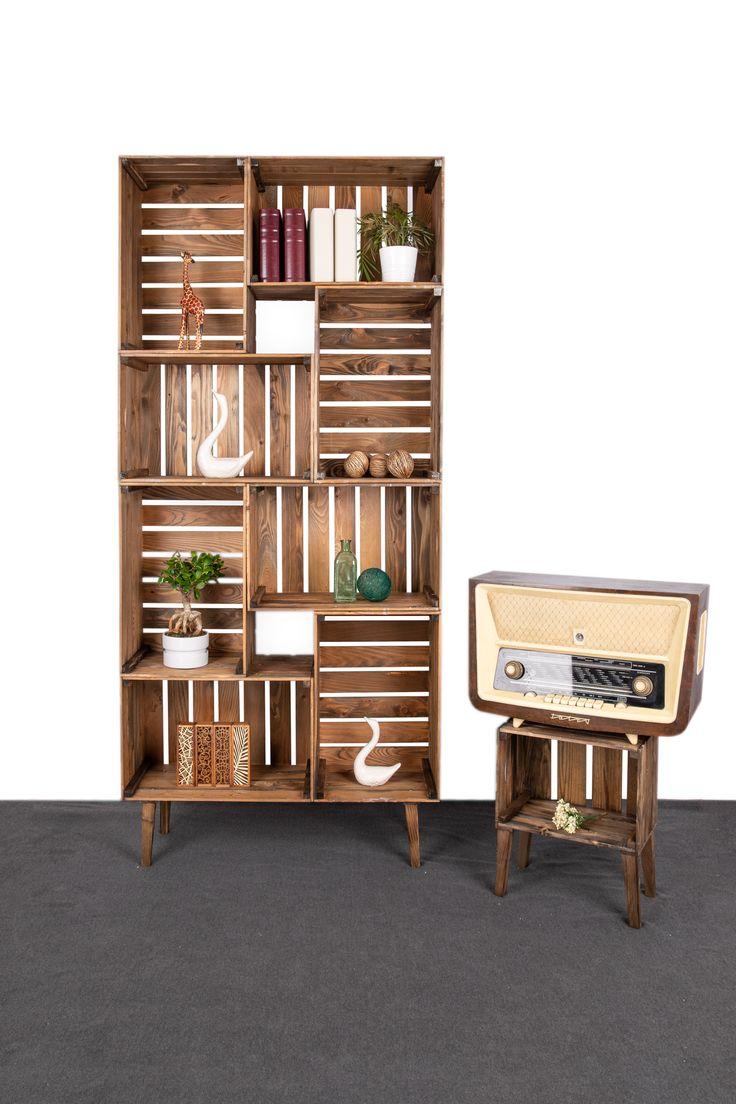Regale | Kistenland | Regale aus Obstkisten | Kistenregale | DIY Möbel – Wohnung -Einrichten-Tipps-Tricks