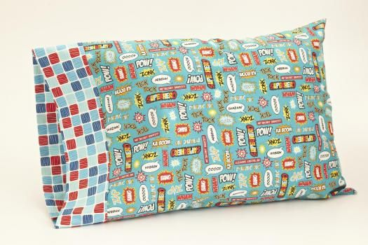 """With the """"burrito"""" method, a banded pillowcase is easy to create."""