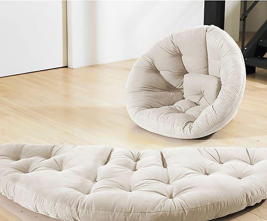 Sillón convertible en futón Nest - natural