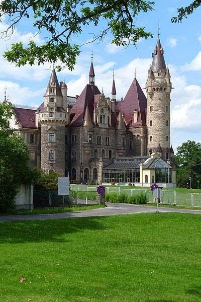 Castle Moszna in Poland - A historic castle & residence located in the western part of Upper Silesia. The history of this building begins in the 17th century, although old cellars were found in the gardens during excavations carried out at the beginning of the 20th century. Some of the investigators claimed that those cellars could have been remnants of a presumed Templar castle, but their theory has never been proved. After World War II, further excavations discovered a medieval palisade.