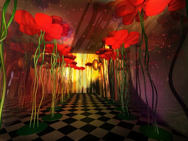 Scenic Design - Alice in Wonderland party by Gabriela Rabelo Andrade at Coroflot.com