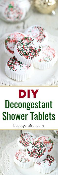 DIY Decongestant Shower Tablets - Great Homemade Holiday Gift