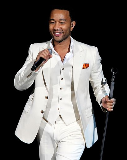 Looks like John Legend just heard from his team lead where Diner is! #DinerenBlancCHI       Best White Suits for Men: Wear It Now: GQ