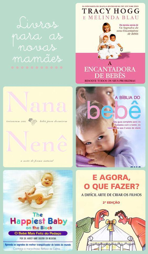 Livros para as novas mamães