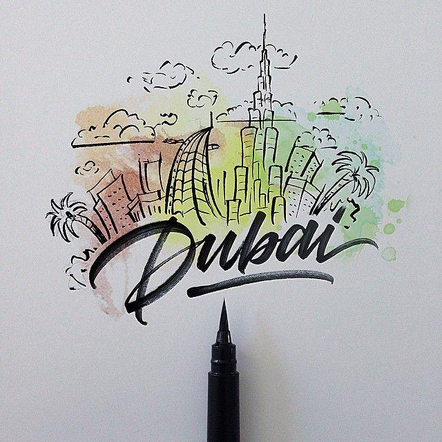 Dubai  The city of skycrapers. ☁️