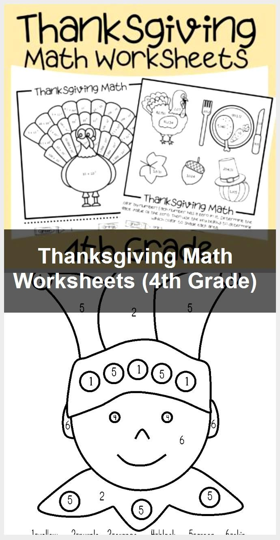 Thanksgiving Math Worksheets (4th Grade)   Thanksgiving math worksheets [ 1330 x 690 Pixel ]