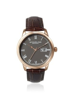 77% OFF Stuhrling Men's 831L.03 Cuvette Panache Brown/Grey Stainless Steel Watch