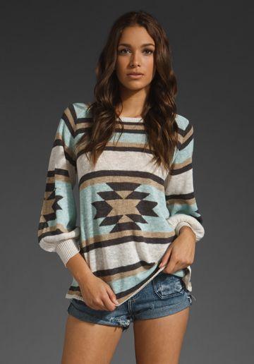 Love this sweaterTribal Sweater, Fashion, Bohemian Tops, Aztec Prints, Mid Century, Tribal Shirts, Summer Night, Eternal Sunshine, Aztec Sweaters